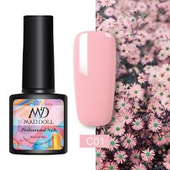 MAD DOLL 8ml 60 Colors Gel Nail Polish Pure Nail Color Nail Gel Lacquer Soak Off UV Gel Varnish Base Coat No Wipe Top Coat
