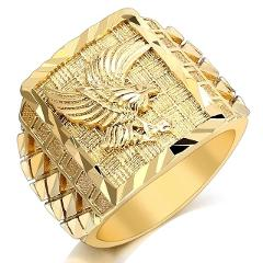 2020 Trendy Hip Hop Rock Punk Vintage Flying Eagle Gold Silvery Ring Designer Party Anniversary Gothic Rings for Men Jewelry