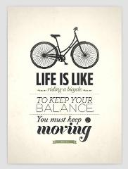 Vintage Retro Bicycle Motivational Quotes Typography Art Print Poster Hipster Image  Canvas Wall Painting Home Decor