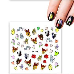YZWLE 1 Sheet 31 Styles Optional 2019 New Arrival  DIY Nail Sticker Water Transfer Cartoon Design Tips Nail Beauty Nails Decal