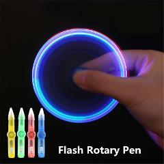 LED Spinning Pen Ball Pen Fidget Spinner Hand Top Glow In Dark Light EDC Stress Relief Toys Kids Toy Gift School Supplies