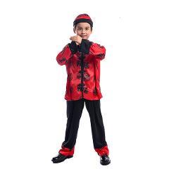 Traditional Chinese dress children kung fu wushu tai chi uniform shaolin martial arts stage performance performance kung fu