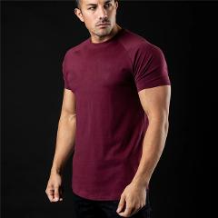 Plain T Shirt Men New Fashion Tee Shirts Summer Cotton Short Sleeve Tshirt Fitness Mens Gym Clothing Casual Sports T Shirts