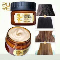 PURC 60ml Magical keratin Hair Treatment Mask 5 Seconds Repairs Damage Hair Root Hair Tonic Keratin Hair & Scalp Treatment
