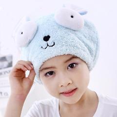 Cute Bath Towel Hair Dry Hat Shower Cap Strong Absorbing Drying Long - Velvet Ultra -Soft Children 's Special Dry Hair Cap Towel