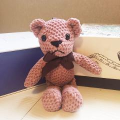 18-20CM Teddy Bear Stuffed Plush Toys Cute Dress Rabbit Pendant Dolls Gifts Birthday Wedding Party Decor