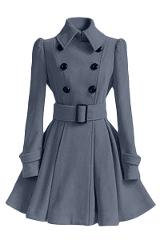Fashion 2018 Women Autumn Winter clothing Coats Long Slim Skirt Wool Coat With Belt Casual Double Breasted Outerwear women tops