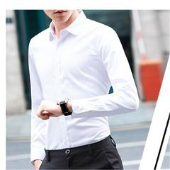 Plus Size 4XL 5XL Men Shirt 2018 Silk Smart Casual Slim Fit Dress Shirt Fashion Summer