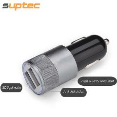 SUPTEC Car Phone Charger 2 Port Mini Dual USB Car Charger Adapter Quick Charging 5V 2A for iPhone Samsung Xiaomi LG Car-Charger