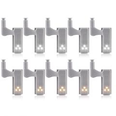 10pcs Universal LED Under Cabinet Light Cupboard Inner Hinge Lamp Closet Wardrobe Sensor Light Home Kitchen Night Light