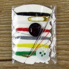 Pocket Needles Stitches Buttons Sewing Kit Thread Travel Pins Box Mini