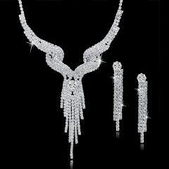 TOUCHEART Wedding Jewellery Set Crystal Bridal Jewelry Sets For Women Long Tassel Statement Necklace/Earrings Set SET150011