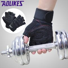 Hot Sports Fitness Body Buliding Training Gym Gloves Multifunction Men Women Sweat Absorption Resistance Weightlifting Gloves