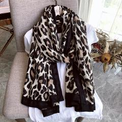 Luxury Brand Winter Scarf,leopard Scarf Women,Soft Pashminas,shawls and Scarves Muslim Hijab,animal Print Leopardo,cape