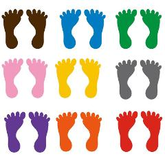 9 Pairs Kindergarten Footprints Stickers Small Ankles Floor Stickers Waterproof Adhesive Floor Bathtub Sticker