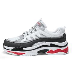 2018 retro mesh Leather male shoe summer men's white black high platform sneakers men basket femme Krasovki Footwear 97 chunk