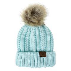 Women's Knitted Hat Winter 2019 New Women Girls Warm Winter Casual Knitted Hat Wool Hemming Ski Hat Gorro de punto para mujer