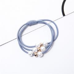 2019 Fashion Pearl Elastic Hair Bands Multilayer Hair Ring Ponytail Holder Headband Rubber Band for Women Girls Hair Accessories