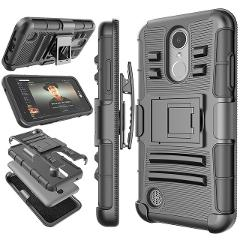 Belt Clip Holster Hard Armor Case for LG V40 ThinQ V30 Q7 Stylo 5 4 K30 K40 Phoenix 3 K4 2017 G8 ThinQ Cover Kickstand