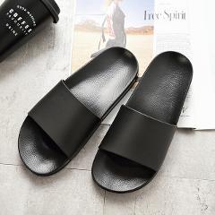 ASIFN Men Slippers Casual Black And White Shoes Non-slip Slides Bathroom Summer Sandals Soft Sole Flip Flops Man