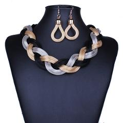 Dubai African Mysterious Charming Necklace earrings set Fashion Wedding Bridal Costume Jewelry Sets