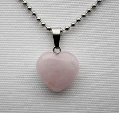 wholesale 16mm Fashion natural stone heart pendant quartz crystal agates turquoises malachite stone for Jewelry making Necklace