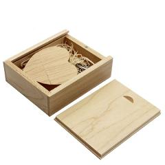 SHANDIAN free custom logo wooden Heart USB + BOX USB Flash Drive Pendrive 64GB 32GB 16GB 8GB U Disk photography wedding gifts