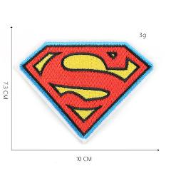 Superman Iron Patches For Clothing Letter S Embroidered Iron On Captain America Shield Patches On Clothes Stripe Batman@BB