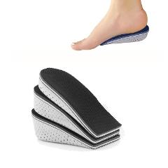 1 Pair Comfortable Height Increasing Shoes Insoles High Arch Support Pad For Women Men Lift Insert Pad Height Cushion