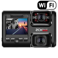 Pruveeo D30H 4K WiFi Dash Cam with Infrared Night Vision, Dual 1080P Front and Inside, car dvr for Cars  Truck Tax