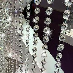 String Acrylic Curtain Room Divider Crystal Beads Door Window Panel for Wed N4V6