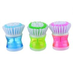 1 Pcs 8.5*6.5cm High Quality Plastic Kitchen Washing Utensils Pot Dish Brush With Washing Up Liquid Soap Dispenser Otco 25