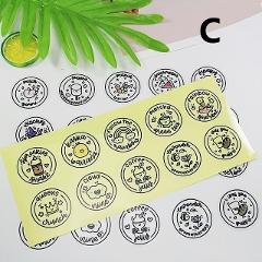 10PCS/Sheet Waterproof Round Slime Sticker Containers Sticker Storage Box Sticker Slime Supplies DIY Accessories Tool