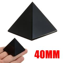 1pc New Arrival Natural Reiki Energy Black Obsidian Pyramid Crystal Protective Healing for Home Office Desk Decoration