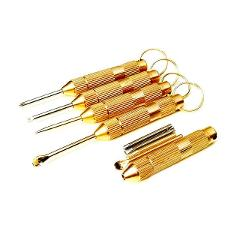 Multifunction Small Hand Tools Portable 4-in-1 tool set cross screwdriver toothpick ear pick pin with key chain