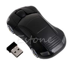 P 2.4GHZ 1600DPI Wireless Mouse USB Receiver Light LED Super Car Shape Optical Mice Battery Powered(not included)