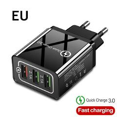 Fast Charger USB Charger Phone Charger Quick Charge QC3.0 5V/3A EU/US/Plug Wall Charger For Samsung Xiaomi Huawei iphone charger