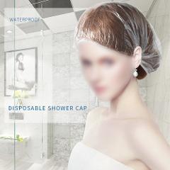 100 Pcs Disposable Plastic Shower Cap Waterproof Transparent Color Shower Cap Hotel For Travel Home Once Bathroom Products