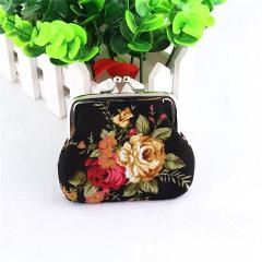 Zero Women Lady Retro Vintage Flower Small Wallet Hasp Purse Clutch Bag