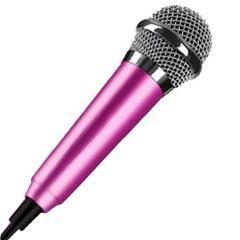 Portable 3.5mm Stereo Studio Mic KTV Karaoke Mini Handheld Microphone For Cell Phone Laptop PC Desktop 5.5cm*1.8cm Small Size #7