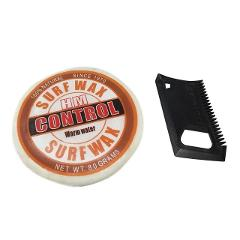 Surfboard Anti-slip Wax Long-lasting Surf Background Hot Wax Cold Water Wax Comb Set Outdoors Surf Sport