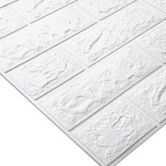 3D DIY PE Foam Stickers Brick Pattern Waterproof Self Adhesive Wallpaper Room Home Decor For Kids Bedroom Living Room Stickers