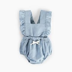 Baby Newborn Girls Solid Print Strap Jumpsuit Soft Sleeveless Infant Casual Bodysuit Outfits Best Present for Baby