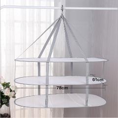 Single/Double/Three Layer Tile Drying Net Home Folding Hanging Basket Laundry Herb Drying Basket Bag Dryer Underwear Bra Basket