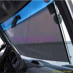 New Car Styling Black  58 x125cm Car Auto Window Roll Blind Sunshade Windshield Sun Shield Visor Drop Shipping Support