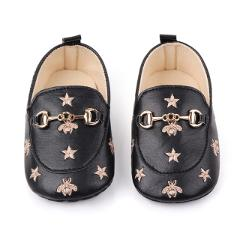 1Pair Baby Girl Infant Cute Fashion Pentagram Pattern Shoes Peas Baby PU Leather Kids Shoes Soft Bottom Toddler Shoes