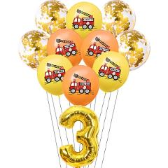 Birthday Fireman Sam Party Latex Ballon Balloons Kids Favors Party Gift Cars Fire Truck Balloon Firefighter Party Supplies