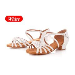 Children Women Latin Dance Shoes Girls Kids Ballroom Salsa Dance Shoes Low Heel White Tango Dancing Shoes Wholesale latino mujer