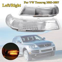 Car Rearview Mirror LED Turn Signal Lights Indicator Lamp Amber Left/Right Side for Volkswagen Touareg 2003 2004 2005 2006 2007