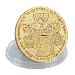 1Pc Collectible Coin President Donald Israel Trump Gold Plated Commemorative Coin Token Gifts